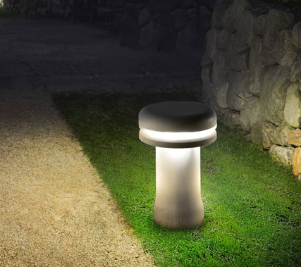 Led Bollard Lights Modern Design Concrete Garden Lamp